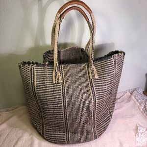 Lucky Brand Farmers Market Jute Shoulder Bag Tote